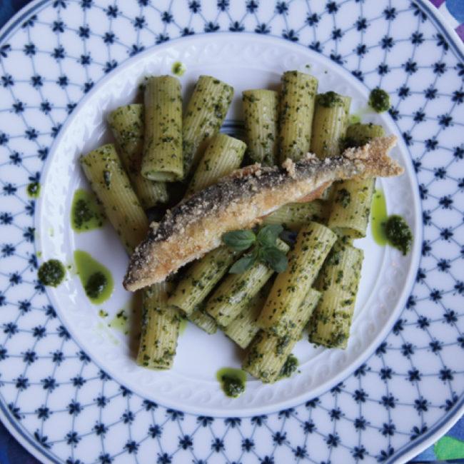 バジルのパスタ/白身魚のソテーレモンケッパーソース/グレープフルーツゼリー(7月開催)