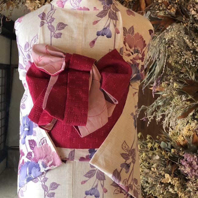 着物を知り着物を楽しむ③「名古屋帯と着物、格を合わせる、浴衣を綺麗に着る。」