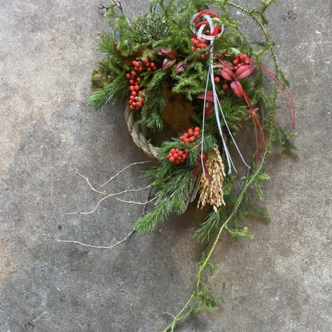 お正月しめ飾りリース作り